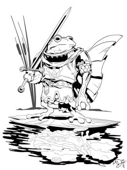 Frog Prince by Max Dunbar Inks by Sam Eggleston by seggleston
