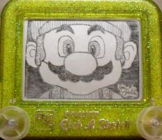Mario etch a sketch by pikajane