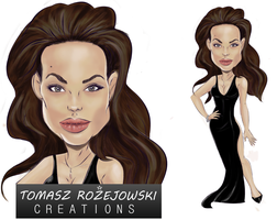 Angelina Joilie Caricature - almost completed by zelu1984