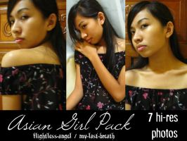 Asian Girl Stock Pack by my-last-breath
