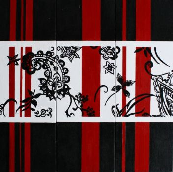 paisley triptych by larrielou