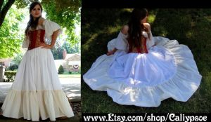 Long White Petticoat- July 2012 by Caliypsoe