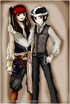Sweeney Todd and Jack Sparrow by Eilyn-Chan