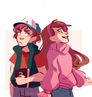 Mystery Twins by m-angela