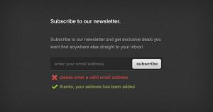 Newsletter Sign-up Form - PSD by ormanclark