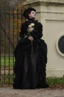 Stock - Gothic woman with roses 2 by S-T-A-R-gazer