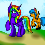 Rainbow And Peach Fuzz by rainbowdashbrony0111
