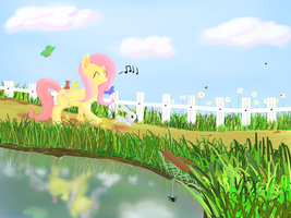 Fluttershy Takes a Leisurely Stroll by PlushStitcher