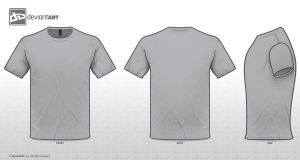 T-shirt GREY TEMPLATE. by zombieabstract