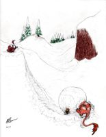 Snowball Fight! by Feanor-the-Dragon