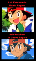 Ash Ketchum's eyes changed...? by Misterfleas