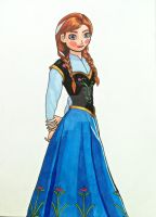 Anna (Frozen) by AlPendragon