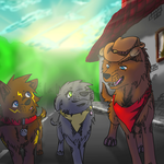 -The new dog in town- *TsaU drawing* by KilaWolfsblut