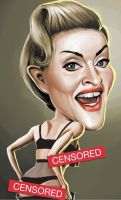 Madonna Caricature by chngch