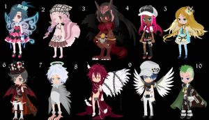 Magical Boys and Girls Offer to Adopt CLOSED by AdoptableSoulxHeart