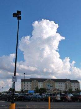 Fluffy cloud tower (3) by MystMoonstruck