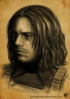 Bucky face sketch by UnicatStudio