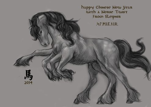 Year of the Horse with Sleipnir by SoaringAmber