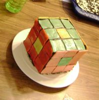 Rubik's Cake by annasaphiree