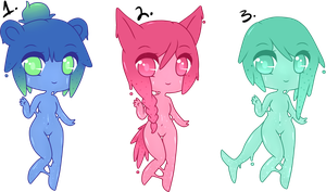 (CLOSED) Point Adoptables: Slime Babies #3 by Acetylace-Adopts