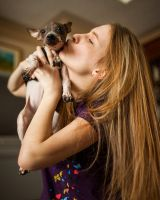 Teenage girl with puppy 2 by thisgirlhasissues