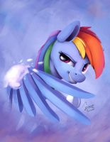 Snow fight -Rainbow by InsaneRoboCat