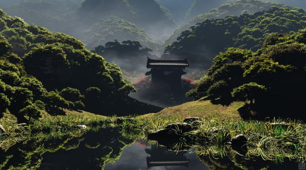 The Temple of Perpetual Autumn by curious3d