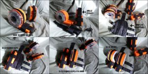 MOLLE Compatible NERF Drum Holders by MarcWF