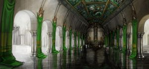 LoS - Throne Room of Tsin Kyu by pixieface