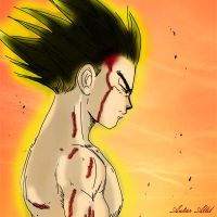 Vegeta After the Battle by AutarAllil