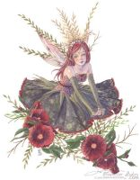 Hollyhock Princess by thedreamflier