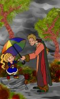 An Umbrella to Fight the Gloom by systemcat