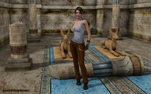 Lara discovering Egypt by JpauCroft