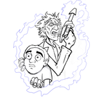 Rick and Morty WIP2 by kaliburstudio