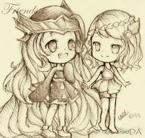 Friends by x3urara