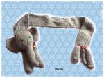 Baby Elephant Scarf by Cateaclysmic