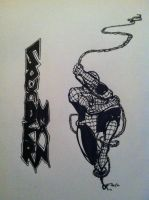 Spider-Man BW 2 by GOLDmouseTRAP