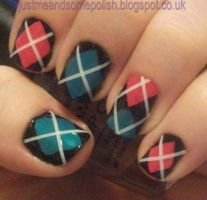 Argyle Nail Art by ellie1980