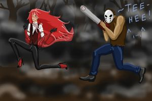 Grell vs Jason by Xaizently