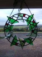 Stained Glass Wreath - Dec 2011 by fangedwolf