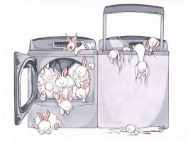 Laundry Bunnies by MaryLuellyn