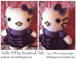 Knitted Hello Kitty-inspired Doll by Stitch-Happy
