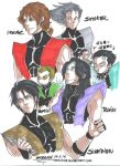 Faces of the Ninjas of the Mortal Kombat by uekiOdiny