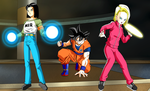 Tournament of Power : Androids protect goku by Chris-Valentine-X