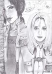 Attack on Titan Ymir x Christa (realistic style by 0OBluubloodO0