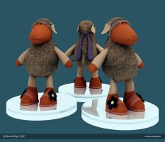 Toy Sheep by Semsa