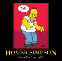 Homer Simpson D'oh! by Onikage108