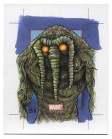 Man-Thing - Marvel 75th Anniversary SketchCard by Erik-Maell