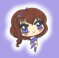 Shades Of Periwinkle : Chibi by Minessa