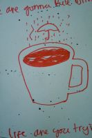 rainy coffee cup by 149daei